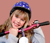 Girl Conquering Bike Riding