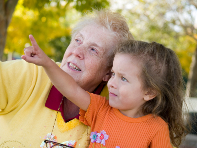 Grandmother and Grandchild spending quality time together