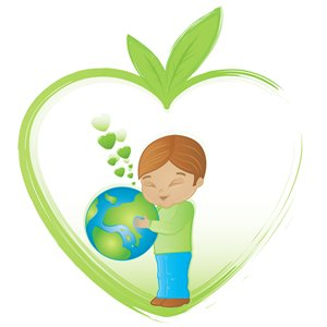 Earth Day 2009 - Child Hugging Planet Earth