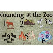 Created with help from the Cricut - counting at the zoo