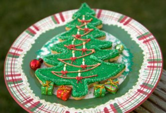 Christmas Tree Cookie - umm umm good