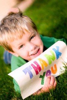 child saying thankyou