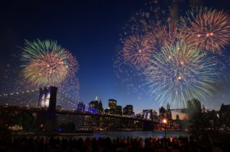 Fireworks Celebration over New York