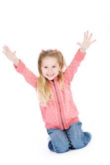 happy self confident child