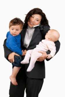 busy working mom juggling kids and life