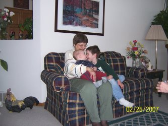 grandma and grandkids having fun together