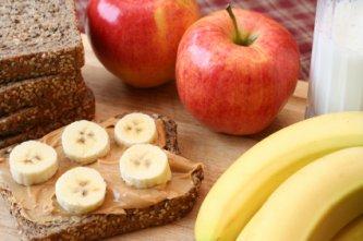 umm good, peanut butter and bananna sandwich