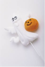 Halloween is almost here - picture of a friendly ghost and pumpkin