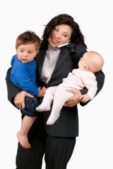 Career Woman and Kids
