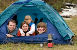 family vacations are a time for bonding and fun - consider a family camping trip
