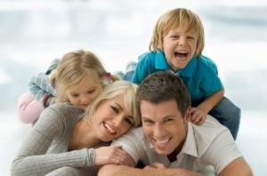 Happy Family of Four enjoying quality family time!