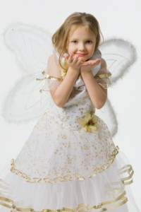 Little Girl Pretending She is a Fairy Princess