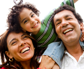 Parents and Child enjoy time together
