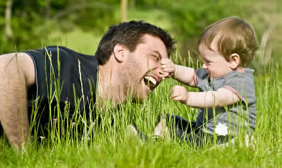 Parenting Boys - Dad and Young Son having fun together