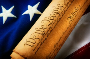 US Flag and Declaration of Independence