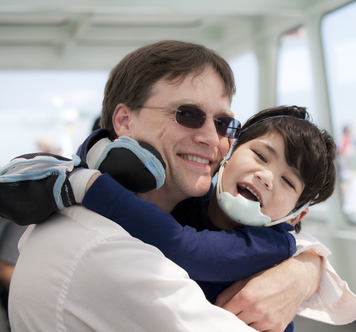 Dad and special needs son